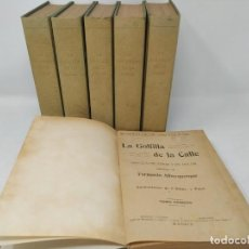 Libros antiguos: LA GOLFILLA DE LA CALLE. F. ALBURQUERQUE. OBRA COMPLETA 6 TOMOS CON ILUSTRACIONES, AÑOS 20. CASTRO. Lote 206275537
