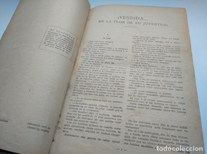 Libros antiguos: VENDIDA EN LA FLOR DE SU JUVENTUD - MARCEL PRIOLLET, ILUSTRACIONES DE GASTÓN PUJOL (COMPLETA) - Foto 5 - 207760457