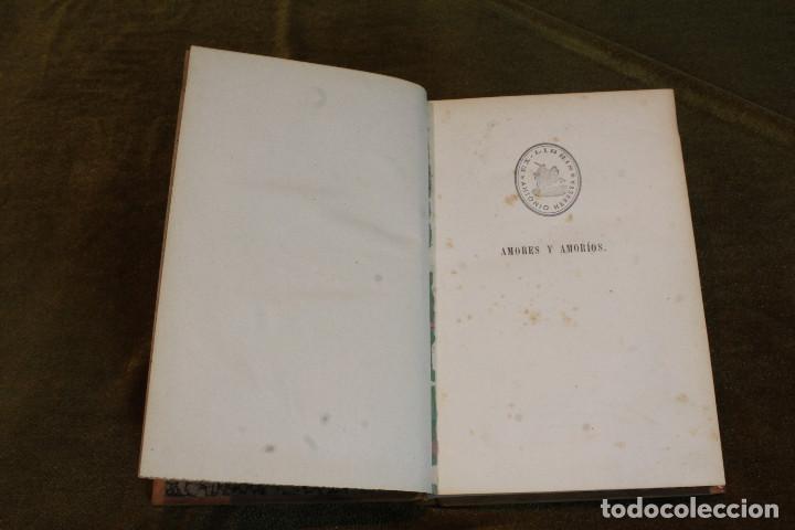 """Libros antiguos: Amores y amoríos""""de Pedro A. de Alarcon. Editado por A. de Carlos e hijo, 1875 - Foto 2 - 207945910"""