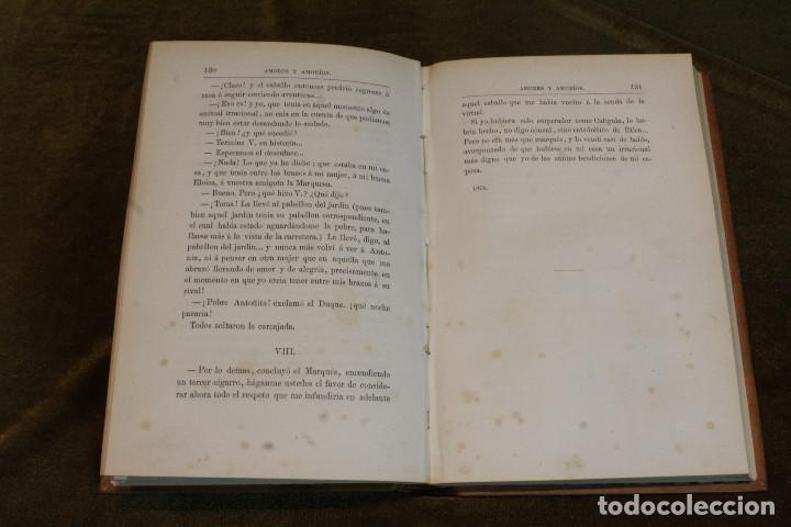 """Libros antiguos: Amores y amoríos""""de Pedro A. de Alarcon. Editado por A. de Carlos e hijo, 1875 - Foto 3 - 207945910"""