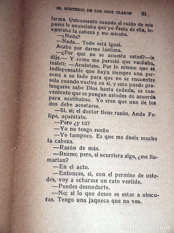 Libros antiguos: EL MISTERIO DE LOS OJOS CLAROS. Pedro MATA. Sanz Calleja SIN FECHA. MÁXIMO RAMOS. - Foto 3 - 208872048