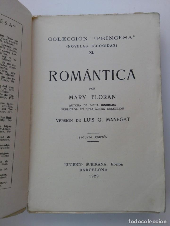 ROMÁNTICA . MARY FLORAN . 1929 (Libros antiguos (hasta 1936), raros y curiosos - Literatura - Narrativa - Novela Romántica)