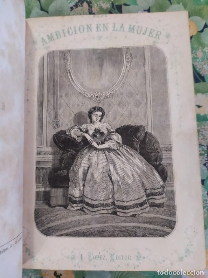 1865. LA AMBICIÓN EN LA MUJER. NOVELAS POPULARES ILUSTRADAS. ANTONIO ALTADILL. (Libros antiguos (hasta 1936), raros y curiosos - Literatura - Narrativa - Novela Romántica)