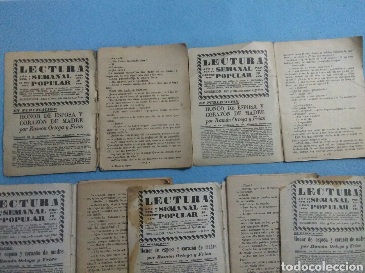 Libros antiguos: Antiguas novelas de honor de esposas corazon de madre ,1920 - Foto 6 - 211440055