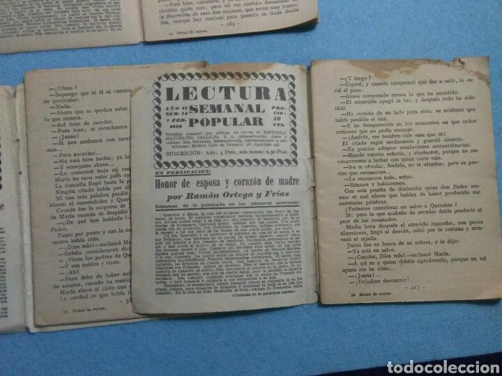 Libros antiguos: Antiguas novelas de honor de esposas corazon de madre ,1920 - Foto 8 - 211440055