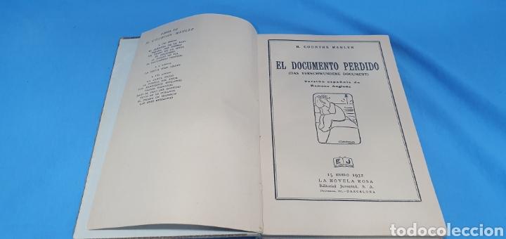 Libros antiguos: EL DOCUMENTO PERDIDO - H. COURTHS-MAHLER 1932 - Foto 2 - 212969993
