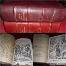Libros antiguos: ELENA EN SU DESVENTURA DE FRANCISCO DE Pª . LASSO DE LA VEGA ILUSTRADA 2 TOMOS OBRA COMPLETA. Lote 213481285