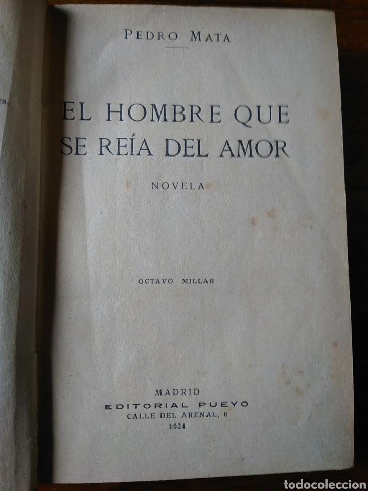 Libros antiguos: El hombre que se reía del amor - Foto 4 - 221478172