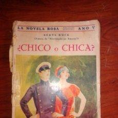 Libros antiguos: CHICO O CHICA. Lote 222132230