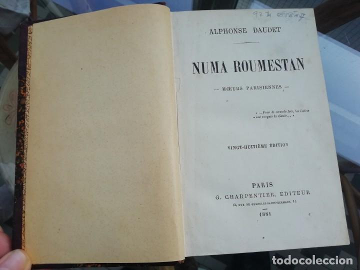 NUMA ROUMESTAN DE DAUDET ED. 1881 TAPAS DURAS. EN FRANCÉS (Libros antiguos (hasta 1936), raros y curiosos - Literatura - Narrativa - Novela Romántica)