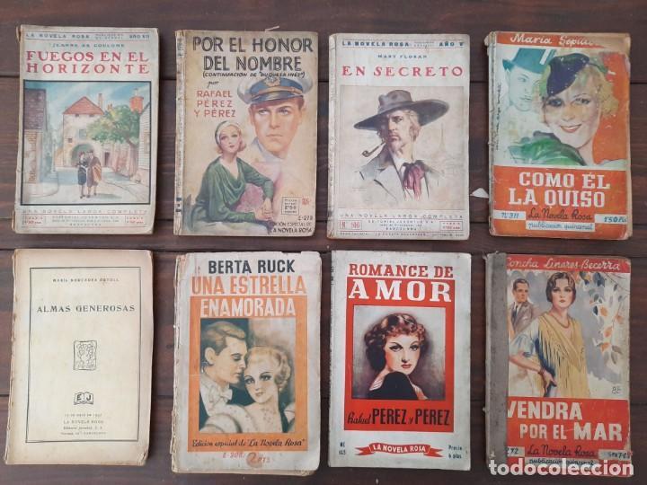 LOTE 8 NOVELAS 'LA NOVELA ROSA' - AÑOS 20'S, 30'S Y 40'S - EDITORIAL JUVENTUD, BARCELONA (Libros antiguos (hasta 1936), raros y curiosos - Literatura - Narrativa - Novela Romántica)