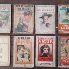 Libros antiguos: LOTE 8 NOVELAS 'LA NOVELA ROSA' - AÑOS 20'S, 30'S Y 40'S - EDITORIAL JUVENTUD, BARCELONA. Lote 226442840