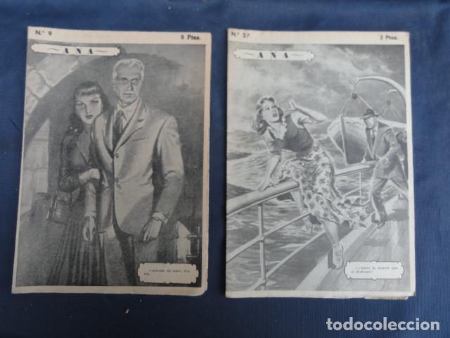 REVISTA NOVELA POR FASCÍCULOS - ANA - ED. HISPANO AMERICANA. Nº 9 Y Nº 27 (Libros antiguos (hasta 1936), raros y curiosos - Literatura - Narrativa - Novela Romántica)