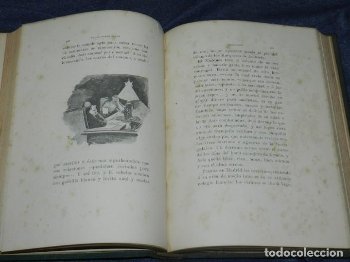 Libros antiguos: (MLIT) EMILIA PARDO BAZÁN - INSOLACIÓN (HISTORIA AMOROSA) ILUSTRACION J CUCHY, 2 EDC, 1895 - Foto 2 - 229569920