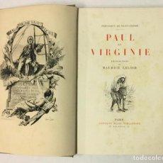 Libros antiguos: PAUL ET VIRGINIE. - SAINT-PIERRE, BERNARDIN DE.. Lote 231203335