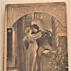 Libros antiguos: JULIETA Y ROMEO - F. LUIS OBIOLS - NOVELA POPULAR DEL SIGLO XIV - EDITORIAL MAUCCI AÑO 1911. Lote 236247875