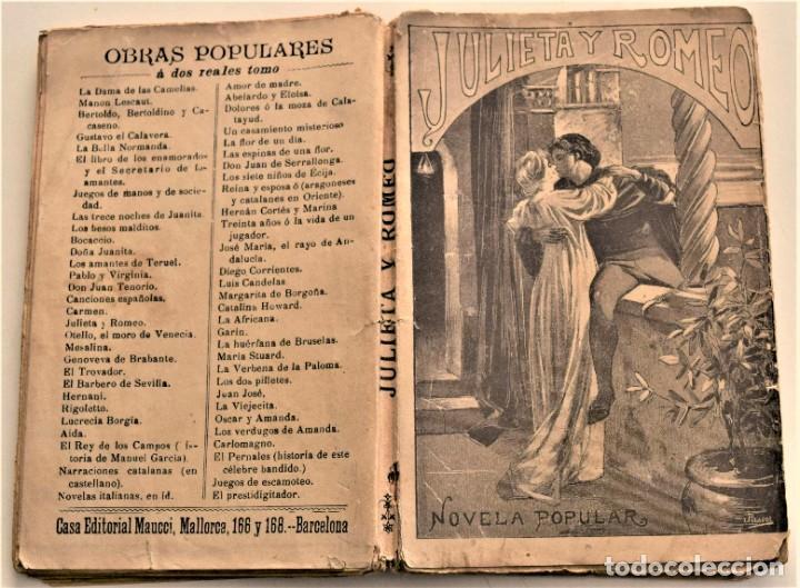 Libros antiguos: JULIETA Y ROMEO - F. LUIS OBIOLS - NOVELA POPULAR DEL SIGLO XIV - EDITORIAL MAUCCI AÑO 1911 - Foto 2 - 236247875