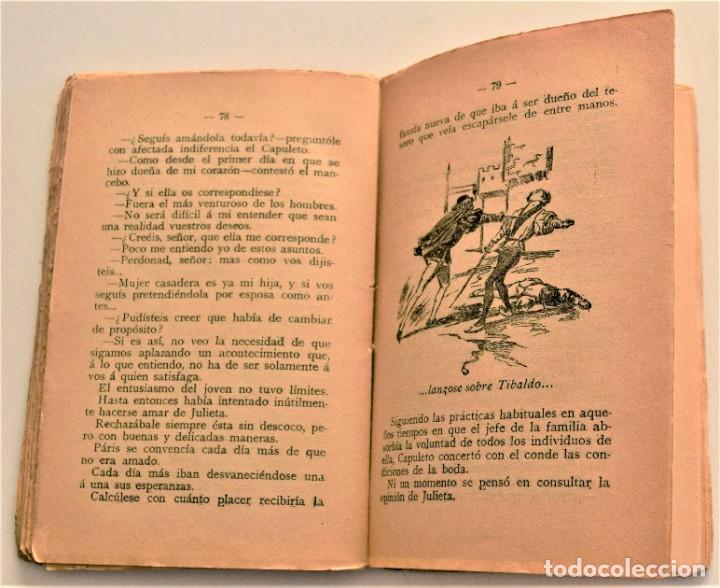 Libros antiguos: JULIETA Y ROMEO - F. LUIS OBIOLS - NOVELA POPULAR DEL SIGLO XIV - EDITORIAL MAUCCI AÑO 1911 - Foto 6 - 236247875