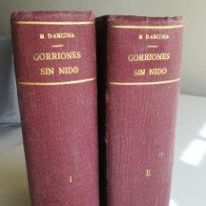 Livres anciens: GORRIONES SIN NIDO, DE M. D'ANCONA. Lote 247983115