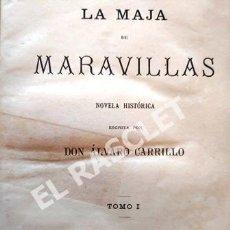 Libros antiguos: ANTIGUO LIBRO LA MAJA DE LAS MARAVILLAS - TOMO 1 - AÑO 1879 - DON ALVARO CARRILLO - TAPAS DURAS -. Lote 252791930
