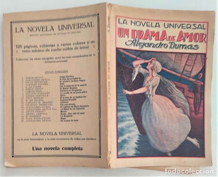 Libros antiguos: UN DRAMA DE AMOR - ALEJANDRO DUMAS - LA NOVELA UNIVERSAL Nº 20 - EDITORIAL BUIGAS - Foto 2 - 270579953
