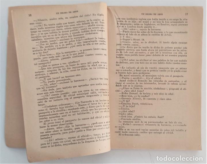 Libros antiguos: UN DRAMA DE AMOR - ALEJANDRO DUMAS - LA NOVELA UNIVERSAL Nº 20 - EDITORIAL BUIGAS - Foto 4 - 270579953