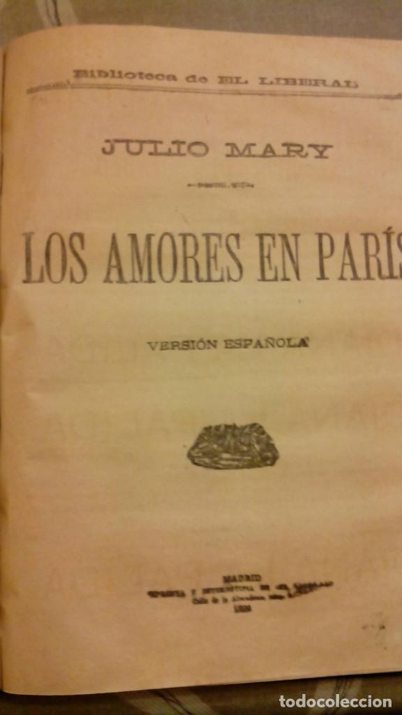 Libros antiguos: NOVENTA Y TRES Victor Hugo. EL HIJO DEL DIABLO Paul Feval. LOS AMORES EN PARIS, Julio Mary - Foto 3 - 271146223