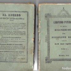 Libros antiguos: GERÓNIMO PATUROT, NOVELA, ED. 1845. TOMOS I Y II. Lote 275080068