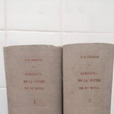 Libros antiguos: ARROJADA EN LA NOCHE DE SU BODA, NOVELA DE UNA JOVEN DE BUENA FAMILIA. 2 TOMOS. HENRY DE TREMIERE. Lote 276268808