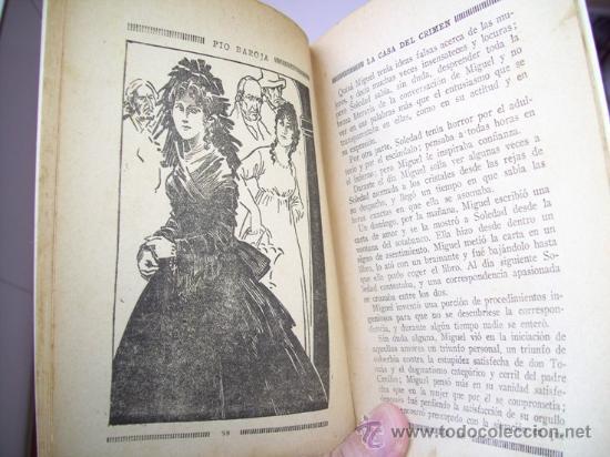Libros antiguos: La casa del crimen por Pío Baroja de La Novela Mundial en Madrid 1926 - Foto 2 - 21624933