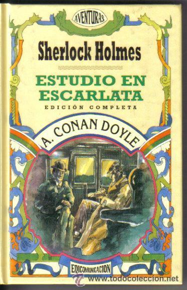 SHERLOCK HOLMES ESTUDIO EN ESCARLATA EDICOMUNICACIÓN (Libros antiguos (hasta 1936), raros y curiosos - Literatura - Terror, Misterio y Policíaco)