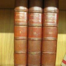 Libros antiguos: OEUVRES DE FENELON. 3VOL. FIRMIN-DIDOT ET CIE. LIBRAIRES 1878.. Lote 168056688
