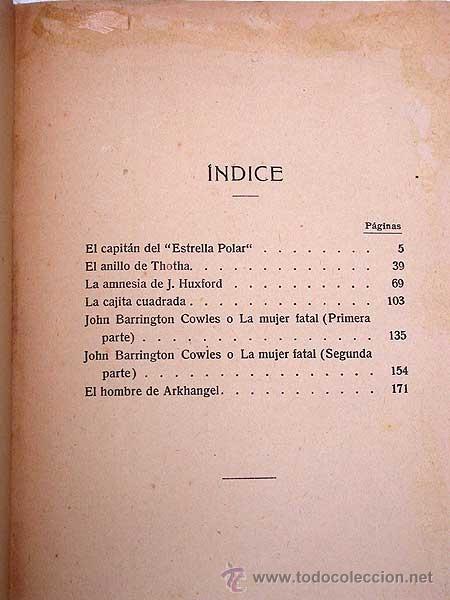 Libros antiguos: LANCES EXTRAORDINARIOS. A. CONAN DOYLE, VERSIÓN DE SEBASTIÁN GOMILA. MAUCCI, 191? BARRINGTON COWLES. - Foto 2 - 39338564