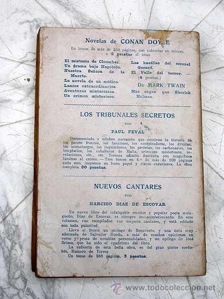 Libros antiguos: LANCES EXTRAORDINARIOS. A. CONAN DOYLE, VERSIÓN DE SEBASTIÁN GOMILA. MAUCCI, 191? BARRINGTON COWLES. - Foto 4 - 39338564