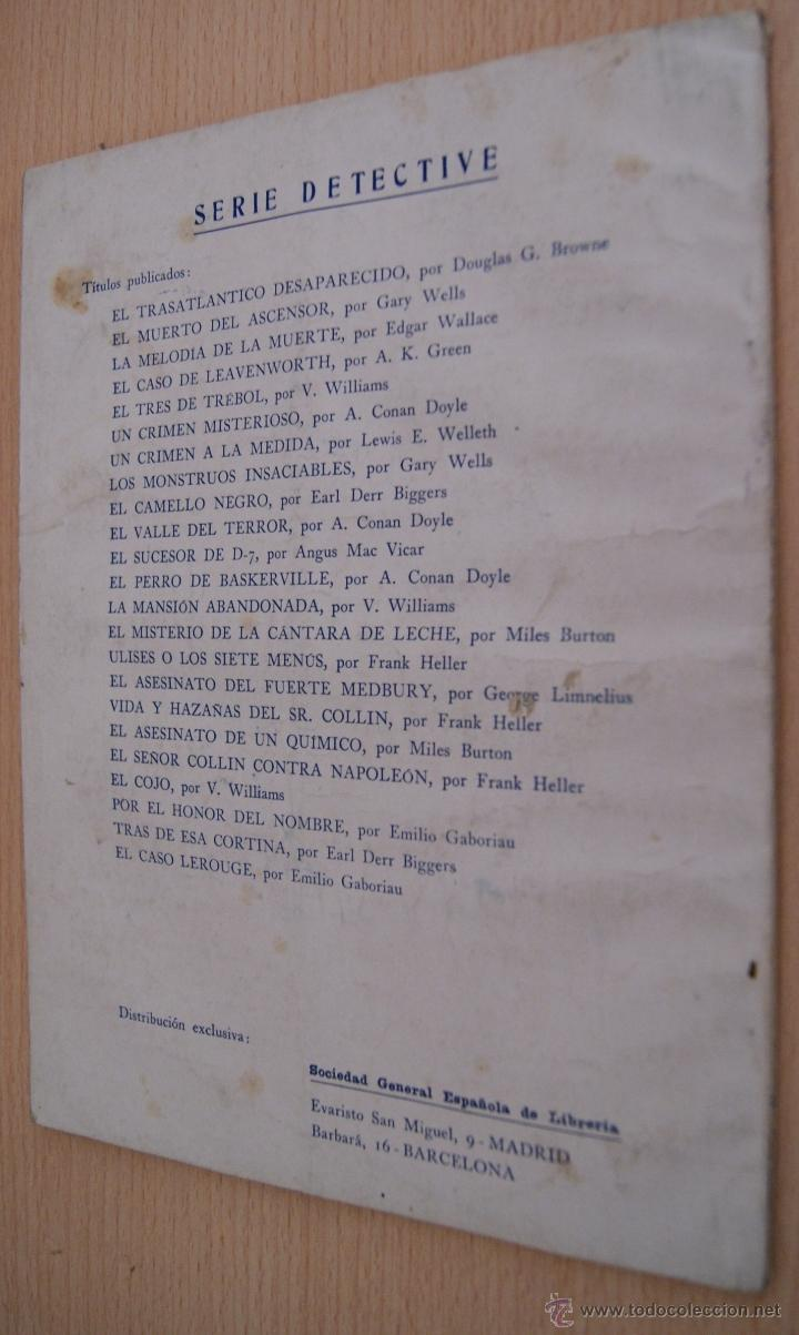 Libros antiguos: EL CASO LEROUGE Novela policiaca Serie Detective - Emilio Gaboriau - Editorial MAUCCI - Foto 2 - 41422862