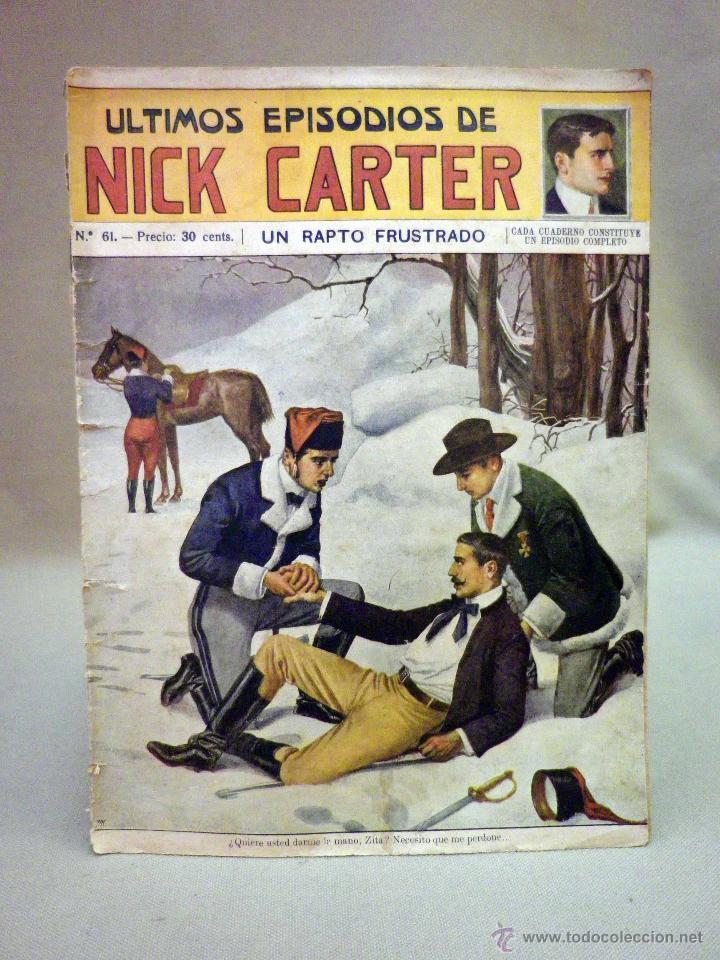 COMIC, NICK CARTER, Nº 61, EDITORIAL SOPENA, UN RAPTO FUSTRADO, ORIGINAL (Libros antiguos (hasta 1936), raros y curiosos - Literatura - Terror, Misterio y Policíaco)