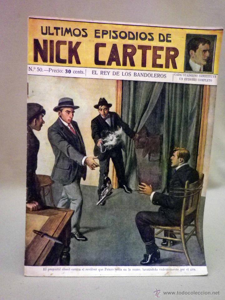 COMIC, NICK CARTER, Nº 50, EDITORIAL SOPENA, EL REY DE LOS BANDOLEROS (Libros antiguos (hasta 1936), raros y curiosos - Literatura - Terror, Misterio y Policíaco)