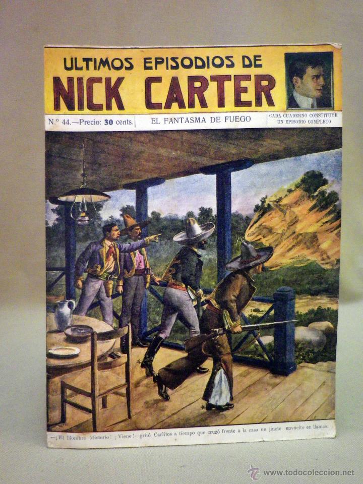 COMIC, NICK CARTER, Nº 44, EDITORIAL SOPENA, EL FANTASMA DE FUEGO (Libros antiguos (hasta 1936), raros y curiosos - Literatura - Terror, Misterio y Policíaco)