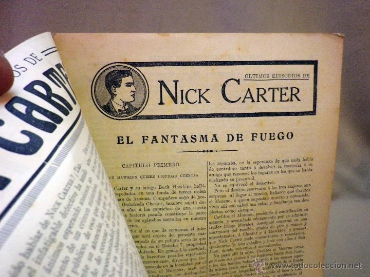 Libros antiguos: COMIC, NICK CARTER, Nº 44, EDITORIAL SOPENA, EL FANTASMA DE FUEGO - Foto 2 - 44042097