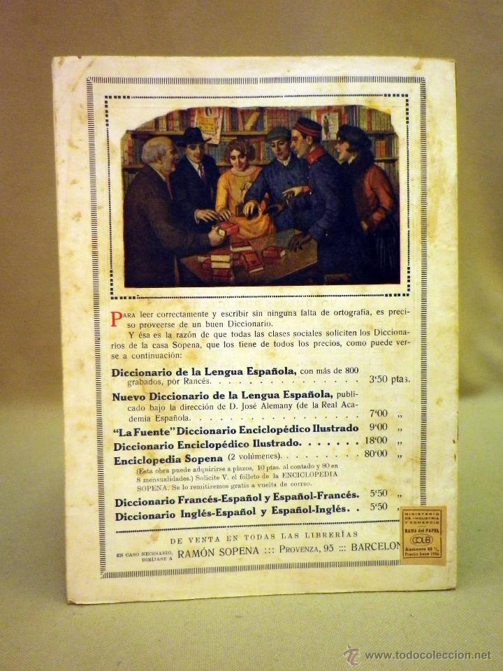 Libros antiguos: COMIC, NICK CARTER, Nº 44, EDITORIAL SOPENA, EL FANTASMA DE FUEGO - Foto 3 - 44042097