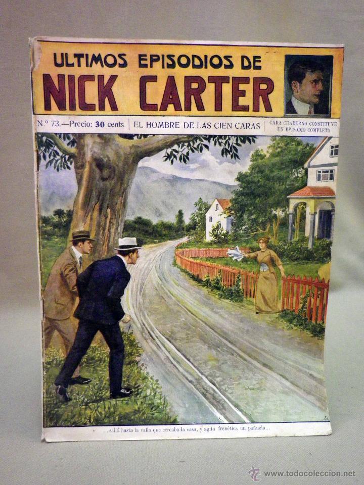 COMIC, NICK CARTER, Nº 73, EDITORIAL SOPENA,EL HOMBRE DE LAS 100 CARAS, ORIGINAL (Libros antiguos (hasta 1936), raros y curiosos - Literatura - Terror, Misterio y Policíaco)