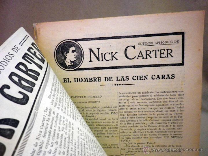 Libros antiguos: COMIC, NICK CARTER, Nº 73, EDITORIAL SOPENA,EL HOMBRE DE LAS 100 CARAS, ORIGINAL - Foto 2 - 44042120