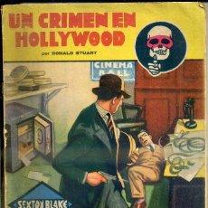 Libros antiguos: DONALD STUART ; UN CRIMEN EN HOLLYWOOD (LA NOVELA AVENTURA, 1934) SEXTON BLAKE. Lote 44158937
