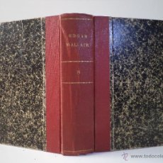 Libros antiguos: EDGAR WALLACE. COL. DETECTIVE. 2 TÍTULOS: EL HOMBRE DEL ANTIFAZ BLANCO / EL ZORRO. AGUILAR 1930. Lote 45834860
