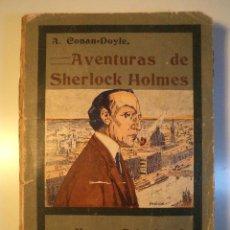 Libros antiguos: AVENTURAS DE SHERLOCK HOLMES. CONAN-DOYLE, ARTURO. LA EDITORIAL ESPAÑOLA-AMERICANA. MADRID 19.... Lote 46498726