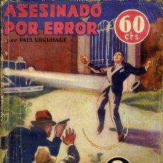 Libros antiguos: LA NOVELA AVENTURA SEXTON BLAKE : URQUHART - ASESINADO POR ERROR (1935). Lote 47057716