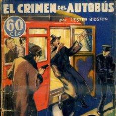 Libros antiguos: LA NOVELA AVENTURA SEXTON BLAKE : BIDSTON - EL CRIMEN DEL AUTOBÚS (1935). Lote 47057895