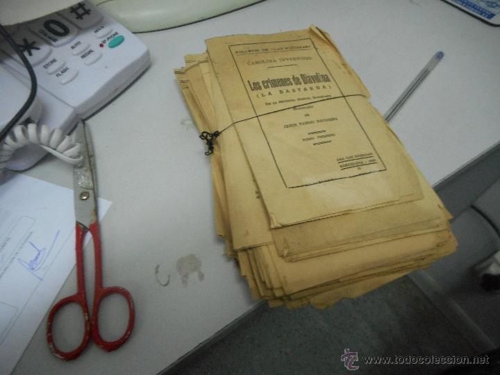 ANTIGUA NOVELA LOS CRIMENES DE DIABOLINA INEDITA EN TODOCOLECCION (Libros antiguos (hasta 1936), raros y curiosos - Literatura - Terror, Misterio y Policíaco)