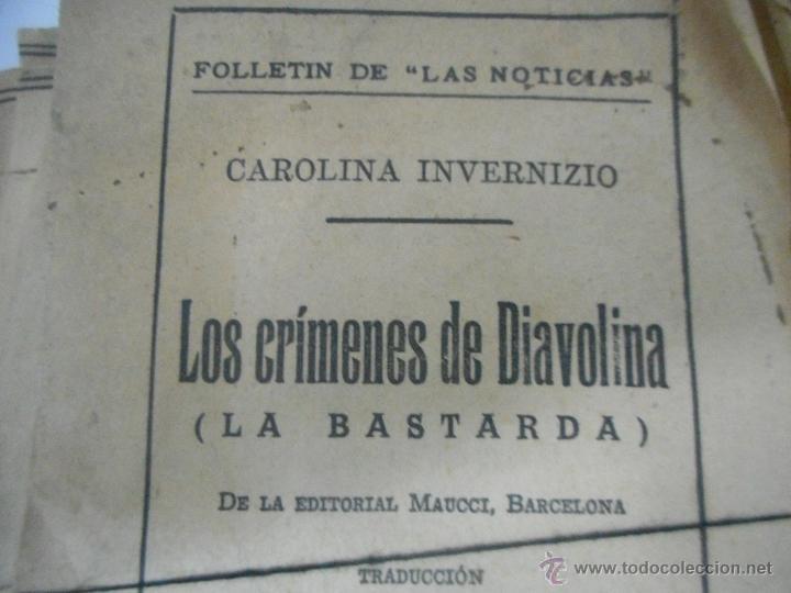 Libros antiguos: antigua novela los crimenes de diabolina inedita en todocoleccion - Foto 2 - 48905512