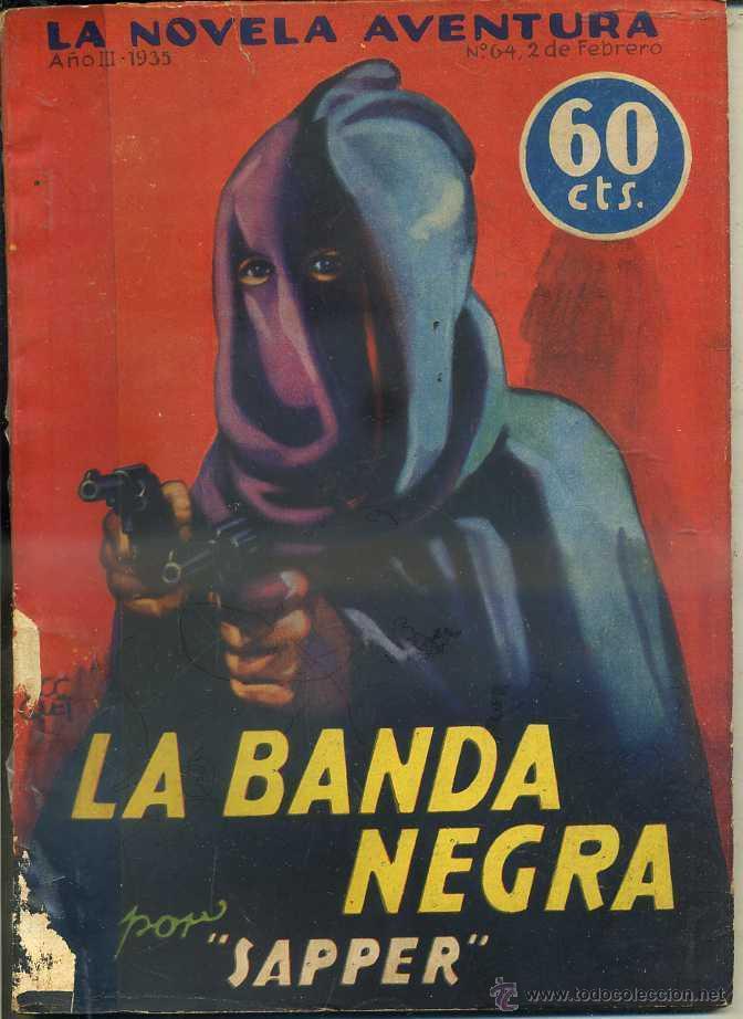 LETAILLEUR : LA BANDA NEGRA (NOVELA AVENTURA, 1935) (Libros antiguos (hasta 1936), raros y curiosos - Literatura - Terror, Misterio y Policíaco)